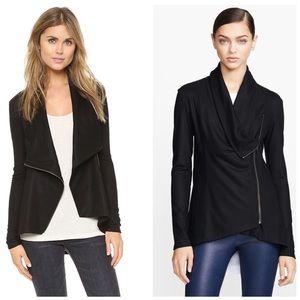 Helmut Lang Black Sonar Wool Shawl Collar Jacket